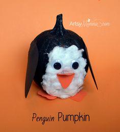 Penguin Pumpkin Decoration - Kids Craft
