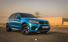 Download wallpapers Forged Wheels, tuning, BMW X5M, F85, 2017 cars, SUVs, blue x5m, BMW
