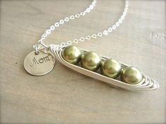 Mom's 4 Peas in a Pod Necklace  Pearls Wrapped in by Beazuness, $37.00  {super cute, I would need 5 though} ;)