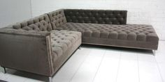 www.roomservicestore.com - Charcoal Velvet Hollywood Sectional