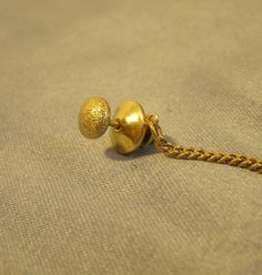 4cb9bfba6006 Textured Puffy Tie Tack w gold Finish - vintage Mid Century Tie Tack,  decorative mens Fashion Jewelry - Bride Groom Wedding, Father gift