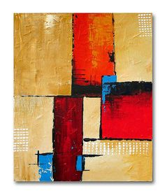 Abstract painting 'Choc a Bloc' by Sunset Contemporary Art by Shirley Shelton, via Flickr