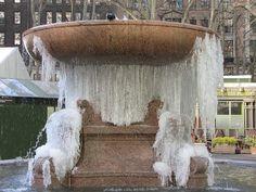 Frozen Fountain Bryant park