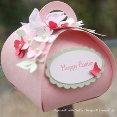 Easter Curvy Keepsake box Something Lace, Itty Bitty Punch Pack, Butterflies Embosslits