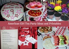 Tons of ideas including crafts, printable invitations, menus, gift tags for an American Girl Tea Party Birthday!