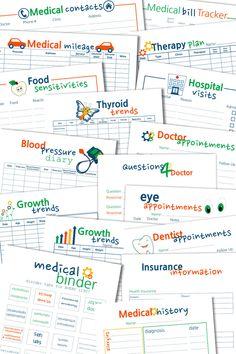 48 Ideas For Medical Binder Printables Track Binder Spine Labels, Health And Fitness Magazine, Health Fitness, Health Exercise, Health Site, Dentist Appointment, Household Binder, Household Notebook, Doctor Advice