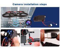 WLtoys V666 RC Quadcopter Camera instaltion steps