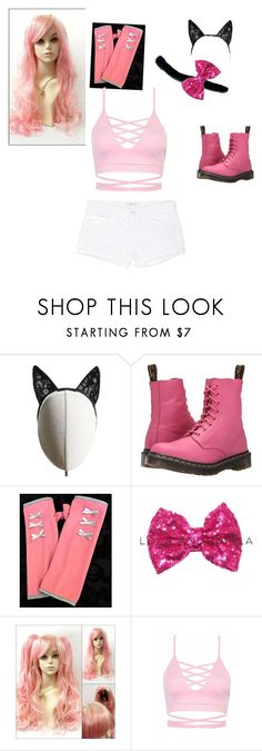 """""""Kawaii~Chan (From MyStreet On Aphmau's Channel)"""" by starlight2221 ❤ liked on Polyvore featuring Heather Huey, Dr. Martens, Sweet Virtues and J Brand"""
