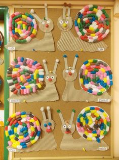 Snail craft idea for preschoolers Toddler Crafts, Diy Crafts For Kids, Arts And Crafts, Paper Crafts, Crafts Toddlers, Children Crafts, Kindergarten Art, Preschool Crafts, Free Preschool