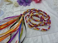 Cord of 12 colours hand fasting wedding cord  traditional