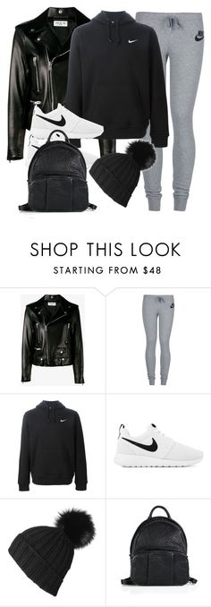 """Sin título #11780"" by vany-alvarado ❤ liked on Polyvore featuring Yves Saint Laurent, NIKE, Black and Alexander Wang"