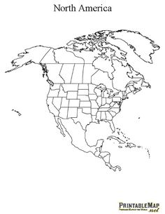 Image blank topographical map of us world map north america printable map of north america continent gumiabroncs Images