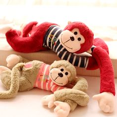 Product Description Condition:100% brand new Material:short plush Filling:PP cotton Size:65CM package:opp bag(gift package) Color:as shown in the picture 1 pcs 65cm Lovers monkey toy plush long arm monkey Soft Stuffed Plush Animal new year gift