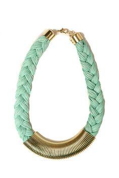 Savoir-Faire : Mint Braided Cleopatra Necklace #shopsf #sfstyle