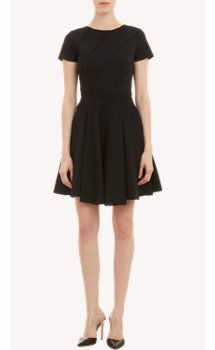 Amelia Toro Jersey & Crepe Fit-and-Flare Dress