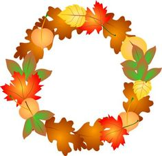 autumn wreath and baskets clip art fall clip art clip art and wreaths rh pinterest com  flower wreath images clip art