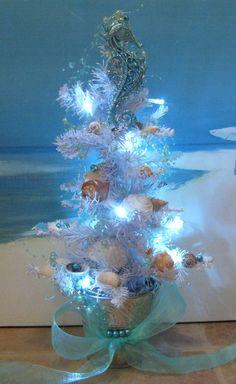Seashell Christmas TreeLight up LED Battery by CeShoreTreasures, $60.00
