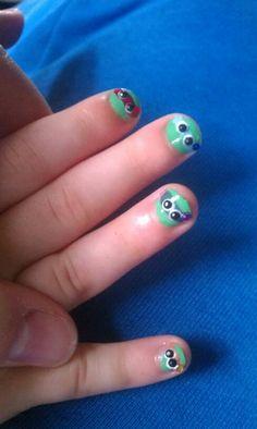 Ninja turtle nails...haha most definitely try someday