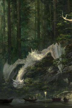 """Digital Art   cyrail:   megarah-moon:     """"Dragon Fantasy"""" by..."""