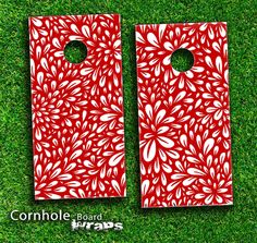 cornhole boards designs | ... Sprout Skin-set for a pair of Cornhole Boards | Design Skinz, INC