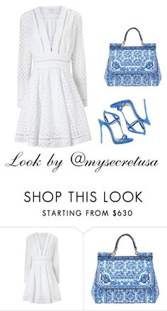 """White & Blue"" by my-secret on Polyvore featuring Zimmermann, Dolce&Gabbana and Dsquared2"