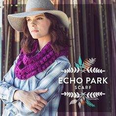 Ravelry: Echo Park Infinity Scarf pattern by Vickie Howell Fall Accessories, Crochet Accessories, Beginner Crochet Projects, Echo Park, Sweater Design, Crochet Scarves, Crochet Patterns, Infinity, Sweaters