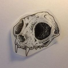 Fresh WTFDotworkTattoo Find Fresh from the Web A wee dotty cat skull. Dead cats…