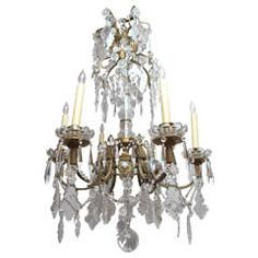 #19thCentury #French #Bronze and #Crystal #Chandelier