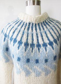 SALE fair isle sweater / vintage 60s nordic by RustBeltThreads