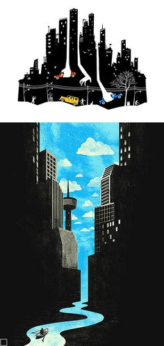 Negative Space Illustrations by Tang Yau Hoong | Inspiration Grid | Design Inspiration