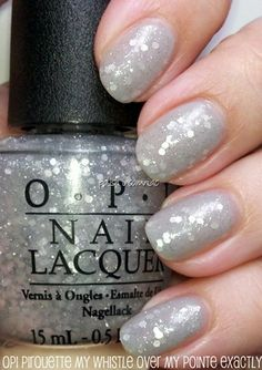 OPI Pirouette my Whistle - click thru to find out how to easily get the hex glitter out of the bottle and onto your nail!