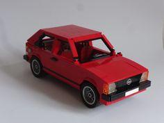 Lego Opel Kadett D Brick Art, Lego Construction, Lego Models, Lego Moc, Lego Creations, Toys For Boys, Car Show, Legos, Lego Auto