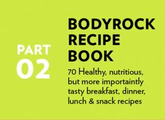 The BodyRock Meal Plan: You can't out train a bad diet!