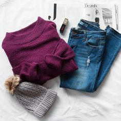Harlowe Sweater - Burgundy
