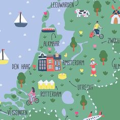 The past week I worked on a map of the Netherlands. It is my first map and I'm very happy about it   www.saramaese.com  #art #colorful #draw #drawing #artsy #artist #illustrator #illustration #creative #instaart #instagood #illustrationoftheday #artoftheday #picoftheday #cute #lovely #gallery #graphic #picture #artwork #saramaese #holland #netherlands #dutch #map #travel