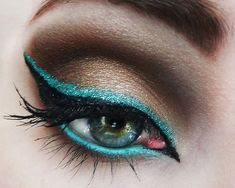Hydra by Victoria D.  I love this shade of eyeshadow! My irises are a strange blue/gray/green color that does not work at all with blue eyeshadows, but teal or green looks awesome with it. Steal...