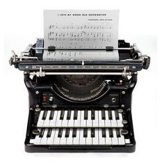 Very cool typewriter! A must for my music room! #testsonos @Sonos