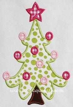 Christmas Tree 2 Applique Design