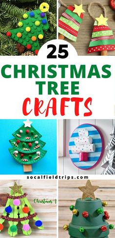 Are you looking for a fun holiday craft to do with kids? Then check out this list of 25 Easy Christmas Tree Crafts For Kids which includes trees made of pinecones, gumdrops, buttons and more. #diy #craft #kidscraft #preschoolcraft #toddlercraft #daycarecraft #christmastree #kidsactivity #adultcraft #christmascraft Handprint Christmas Tree, Diy Felt Christmas Tree, Christmas Arts And Crafts, Christmas Tree Painting, Christmas Activities For Kids, Holiday Crafts For Kids, Christmas Goodies, Crafts To Do, Simple Christmas