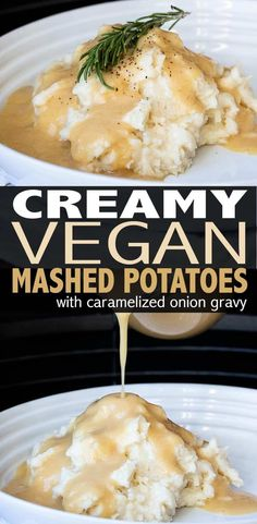 Rich, creamy and so satisfying you'll forget about the rest of the meal. These creamy vegan mashed potatoes have a secret trick that make them next level delicious! #veganthanksgiving #veganrecipes  via @veggiesdontbite