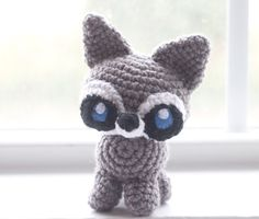Crochet Raccoon Plush/ Choose Your Colors/ by TheFadedWildflower