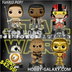 http://www.hobby-galaxy.com/funko-pop-star-wars-episode-vii-the-force-awakens-part-1-rey-finn-chewbacca-c-3po-bb-8-poe-dameron-vinyl-figures/ #kyloren #captainphasma #stormtrooper #snowtrooper #flametrooper #firstorder #starwars #starwar #chewbacca #jedi #c3po #theforceawakens #hansolo #lukeskywalker #princessleia #darthvader #starwarsepisodevii #starwarsepisode7 #poedameron #funkopops #funkovinyl #funkofunatic #vinyl #vinylfigure #vinylcollection #actionfigures #toy #toys  #funko