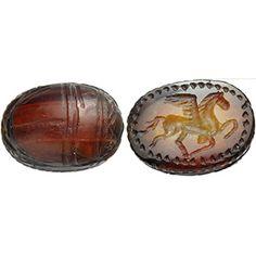 Scarabeo etrusco in corniola con Pegaso V ...