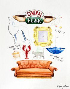 friends show watercolor - Google Search