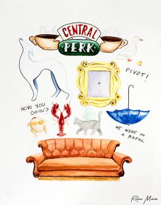 friends show watercolor - Google Search