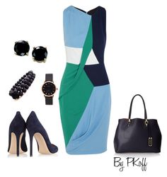 """Turquoise & Blue"" by pkoff ❤ liked on Polyvore featuring Peter Pilotto, Gianvito Rossi, London Fog, Marc by Marc Jacobs, Don't AsK and B. Brilliant"