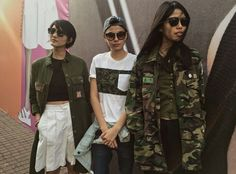It's Fashion Week here in Jakarta. This models tho killin those outfits, The Army Squad!!! #JakartaFashionWeek16 #BerrybenkaLovesJFW2016 #JFW2016 #Day2