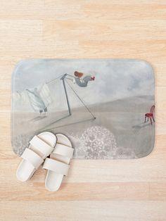 'Washing line' Bath Mat by Ria Rademeyer Bath Mat Design, Line S, Iphone Wallet, Sell Your Art, Prints, Stuff To Buy, Printed, Art Print