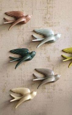 Swallows in Flight - Set of 6
