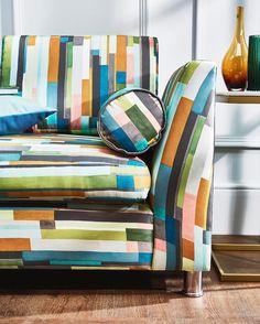 Prestigious Textiles, Modern Muse, Blue Colour Palette, Mondrian, Geometric Shapes, Digital Prints, Cushions, Colours, Throw Pillows